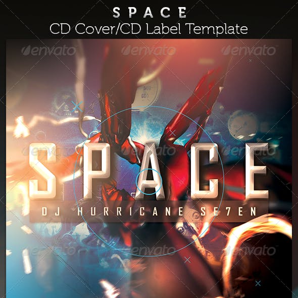 Space CD Cover Artwork Template