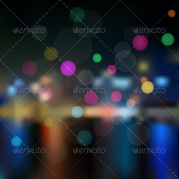 Night in City. Background. - Backgrounds Decorative