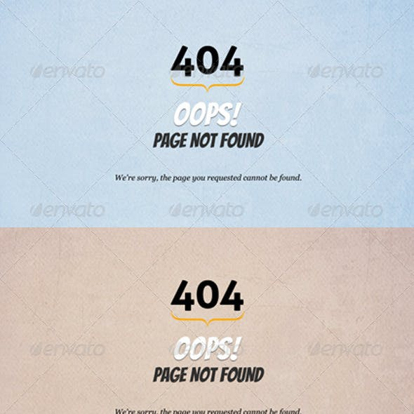 Retro 404 Error Pages