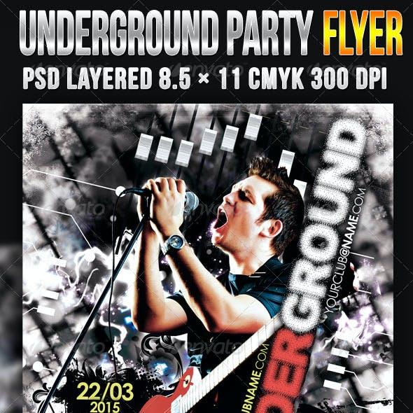 Underground Party Flyer