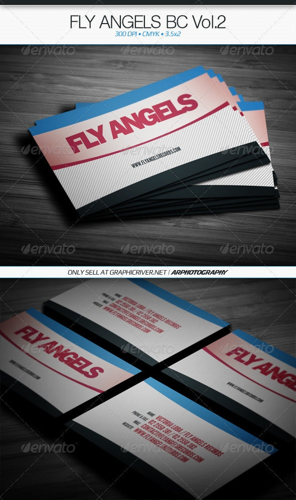 Fly Angels Business Card Vol.2 - Business Cards Print Templates