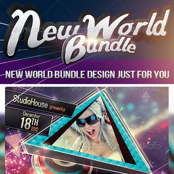 New World Bundle Party Flyers