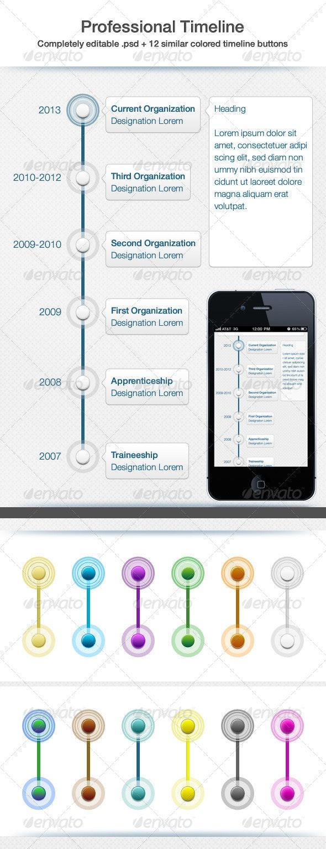 Professional Timeline UI - User Interfaces Web Elements