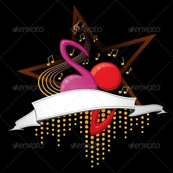 Music design - Decorative Symbols Decorative