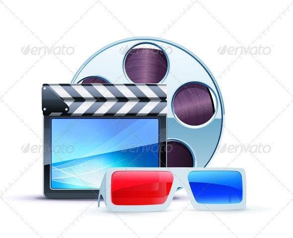 cinema background - Decorative Vectors