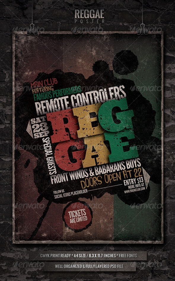 Reggae - Flyer/Poster Template - Concerts Events