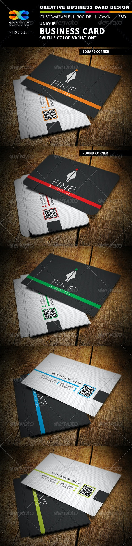 Unique Business Card - Corporate Business Cards