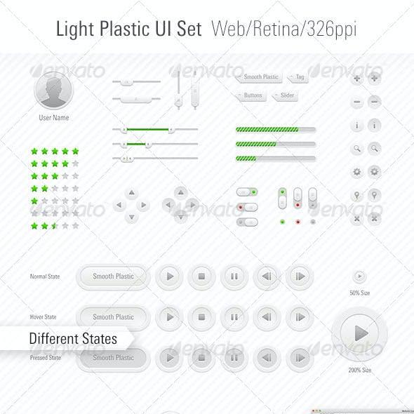 Light Plastic UI Set Web/App