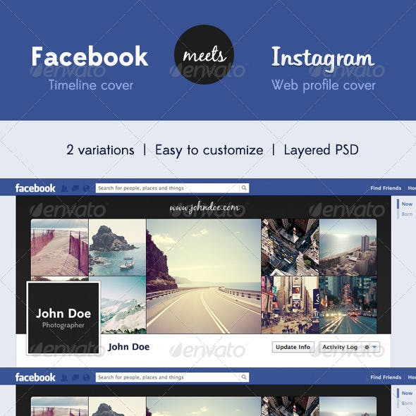 Fb Timeline Cover Meets Insta Profile