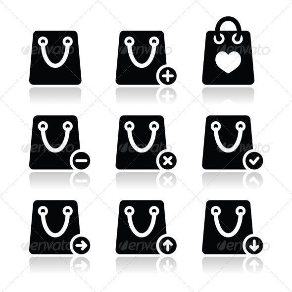 Shopping Bag Vector Icon Set