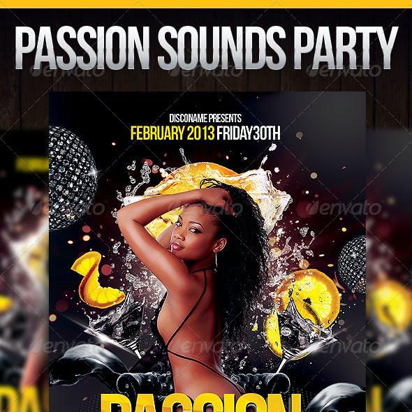 Passion Sounds Party Flyer