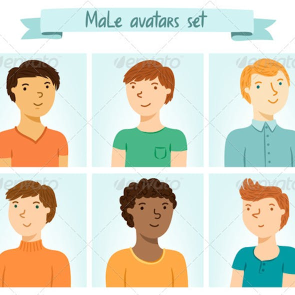 Male Avatars Set