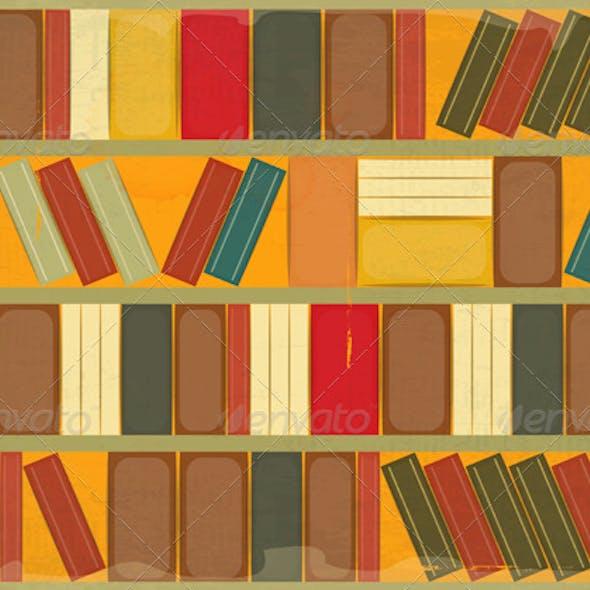 Book Background Retro Style