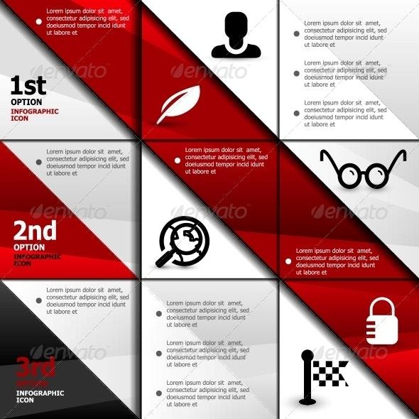 Infographic web banner design template - Web Elements Vectors