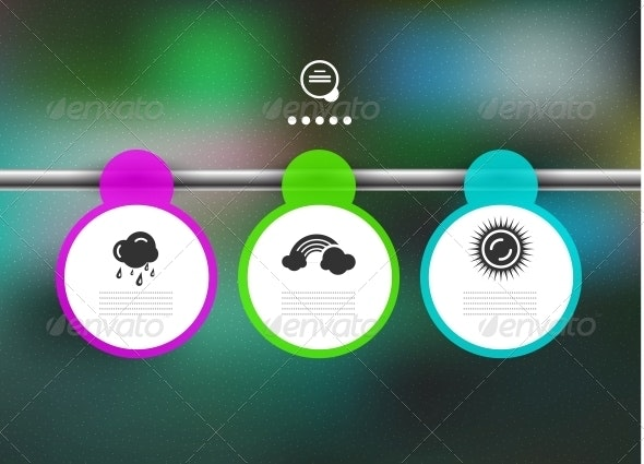 Hanging round lists of paper | infographic banners - Web Elements Vectors