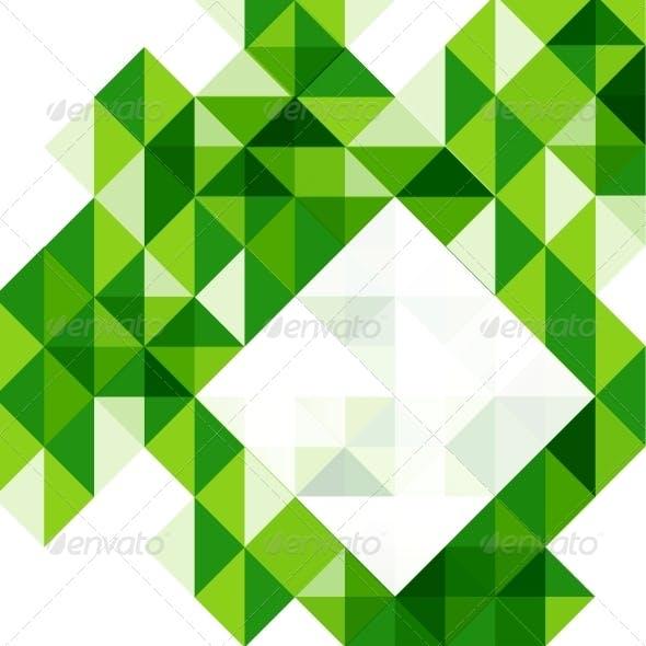 Green modern geometric design template