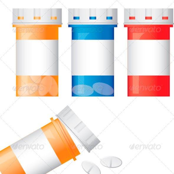 Prescription Bottles and Pills