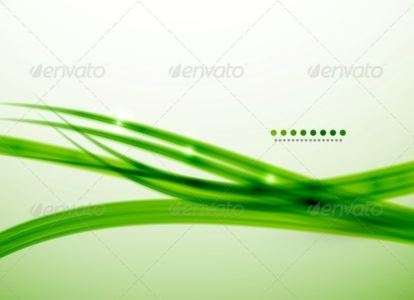 Green Lines Vector Abstract Background Template - Backgrounds Business
