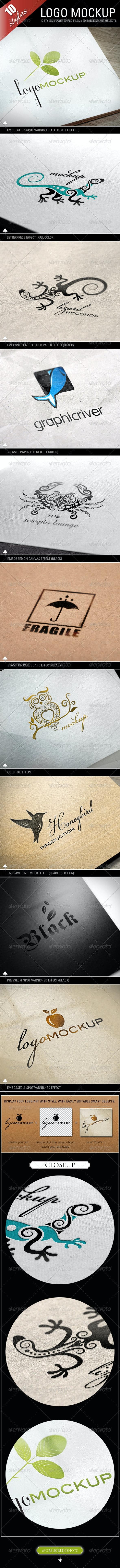 Logo Mockups - 10 Styles - Logo Product Mock-Ups