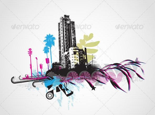 Urban Grunge Background - Conceptual Vectors