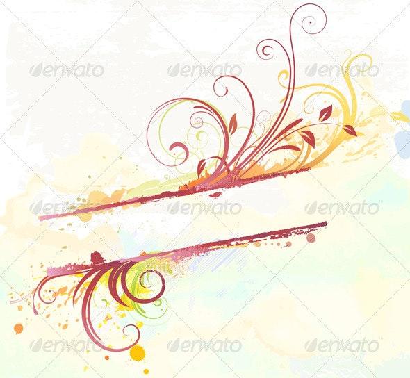 Floral Decorative Banner - Flourishes / Swirls Decorative