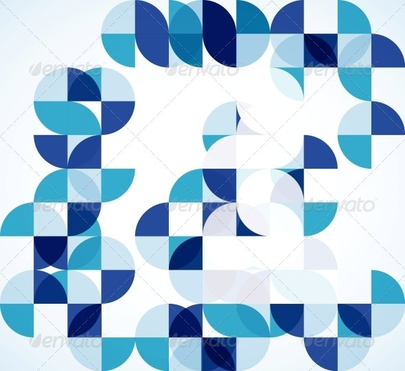 Blue Modern Geometric Abstract Background - Backgrounds Business