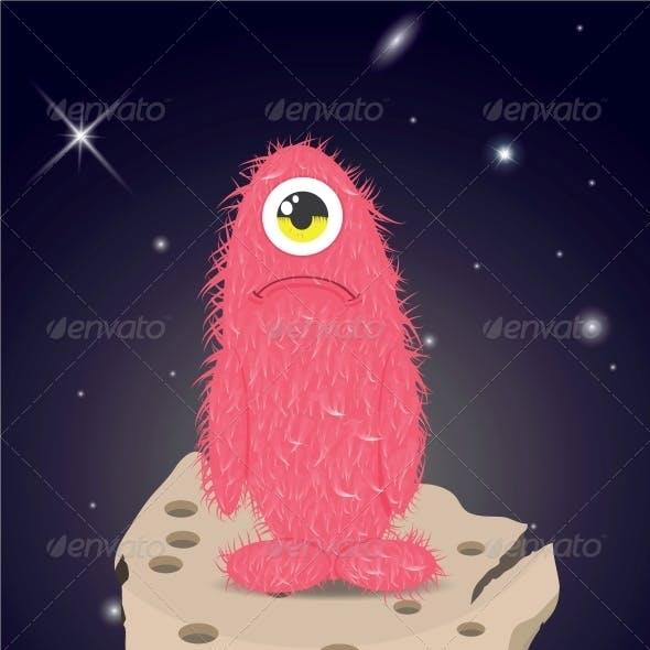 Alien Lost in Space Sad Monster