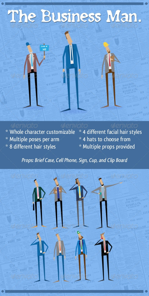 The Business Man - People Characters