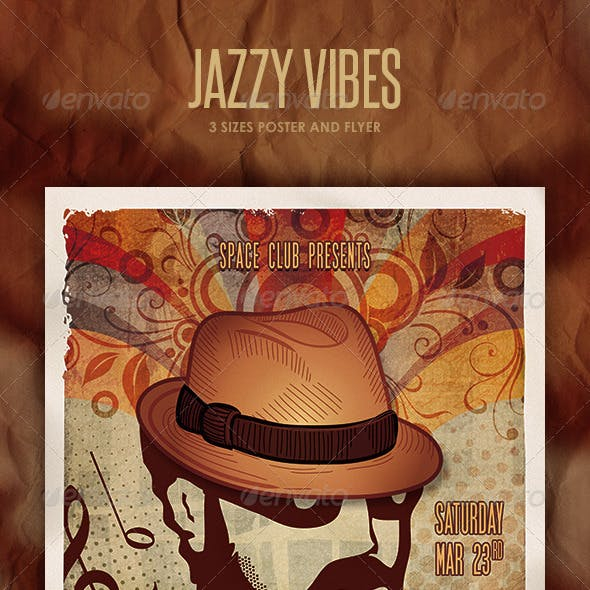 Jazzy Vibes Poster and Flyer