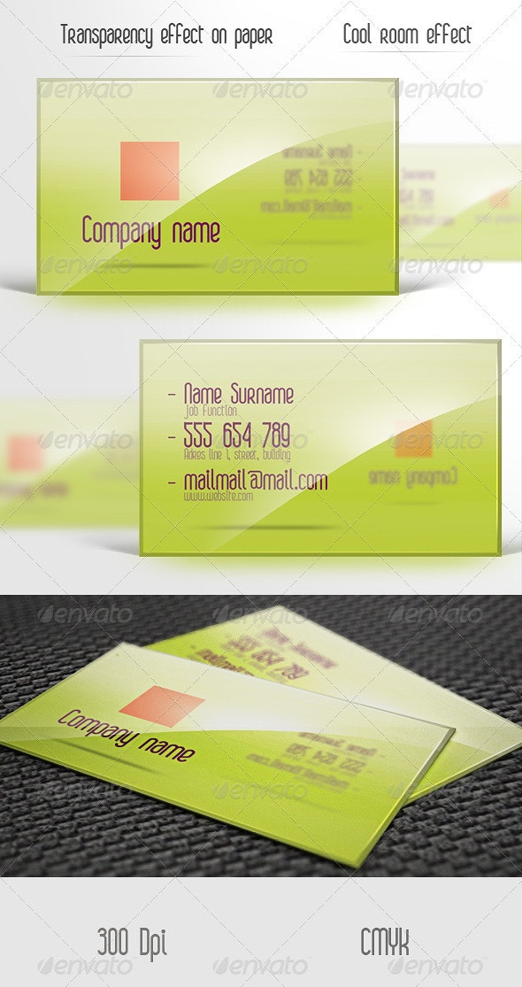 Glossy business card. - Creative Business Cards