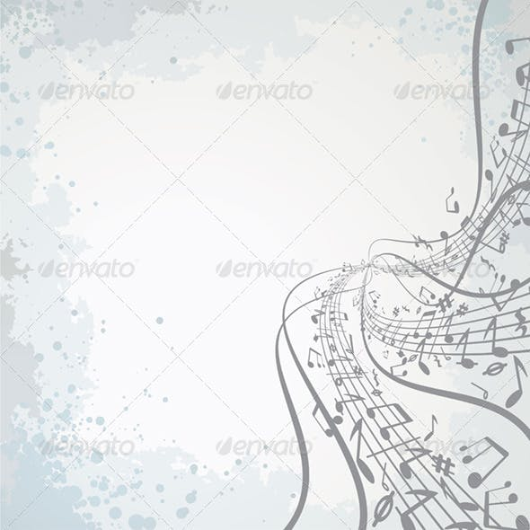Musical Theme. Vector Image
