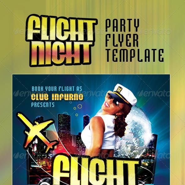 Flight Night Party Flyer