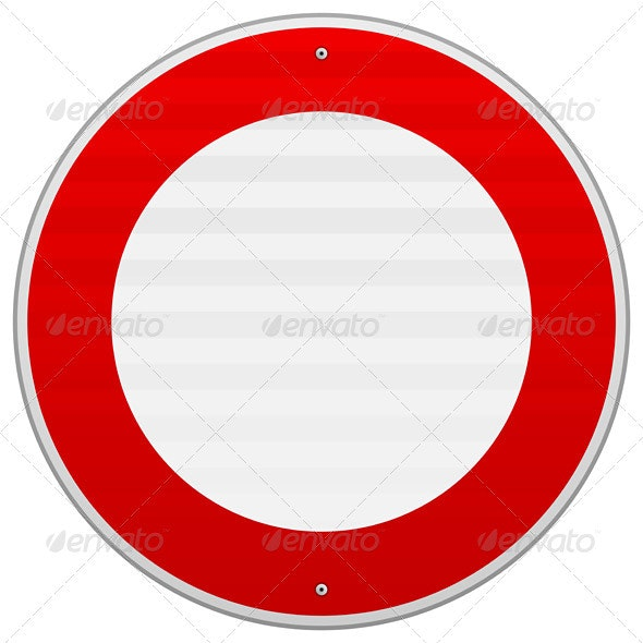 No Traffic Red Sign - Objects Vectors