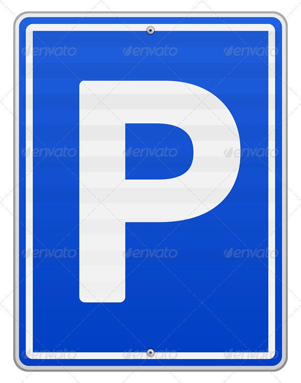 Isolated Parking Sign - Objects Vectors