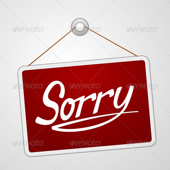 Sorry Storefront Sign - Vectors