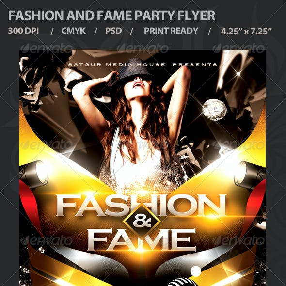 Fashion and Fame Party Flyer