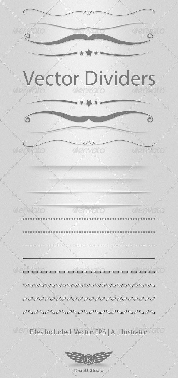 Vector Dividers - Decorative Symbols Decorative