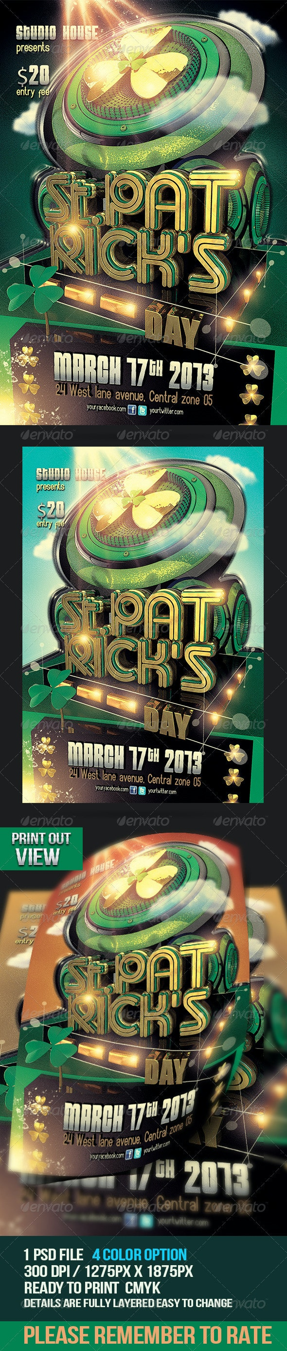 St. Patricks Day Party Flyer - Holidays Events