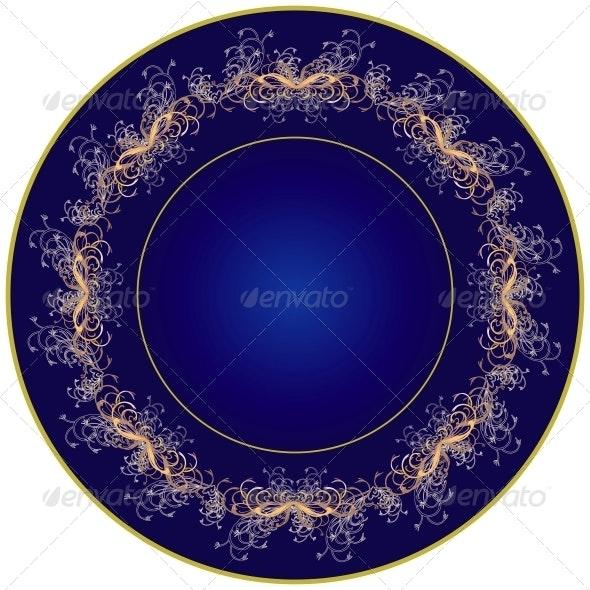 Dark blue plate - Organic Objects Objects