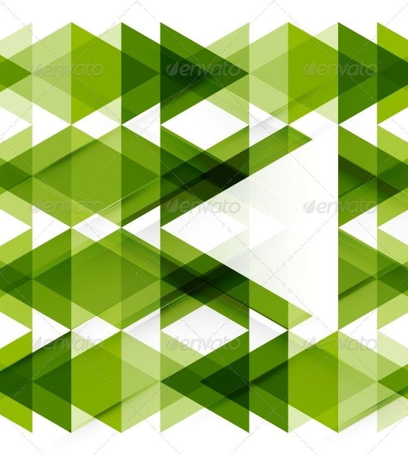 Modern Geometric Abstract Background Template - Backgrounds Decorative