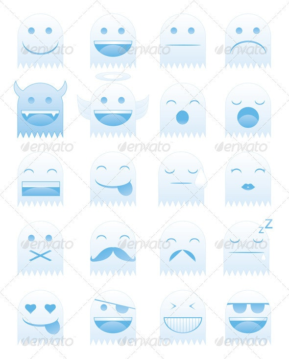 Emoticon Ghosts - Miscellaneous Characters