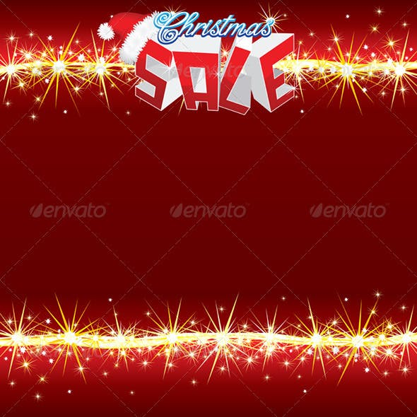 Christmas Sale Poster. Vector Template