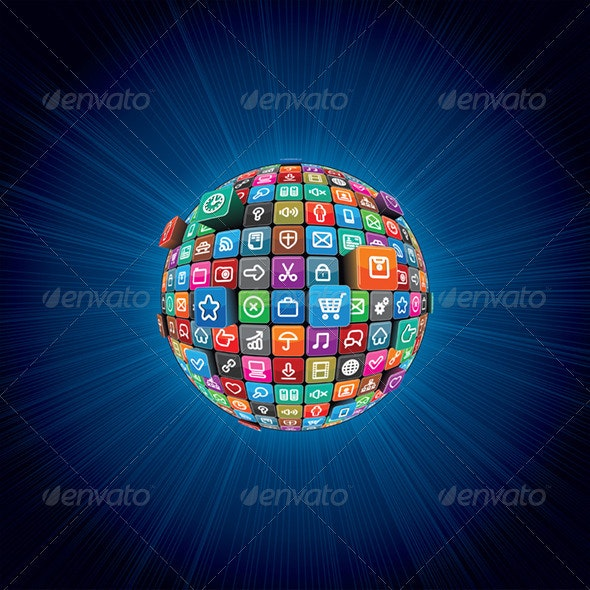 Conceptual Abstract Background. Vector Graphics - Web Technology