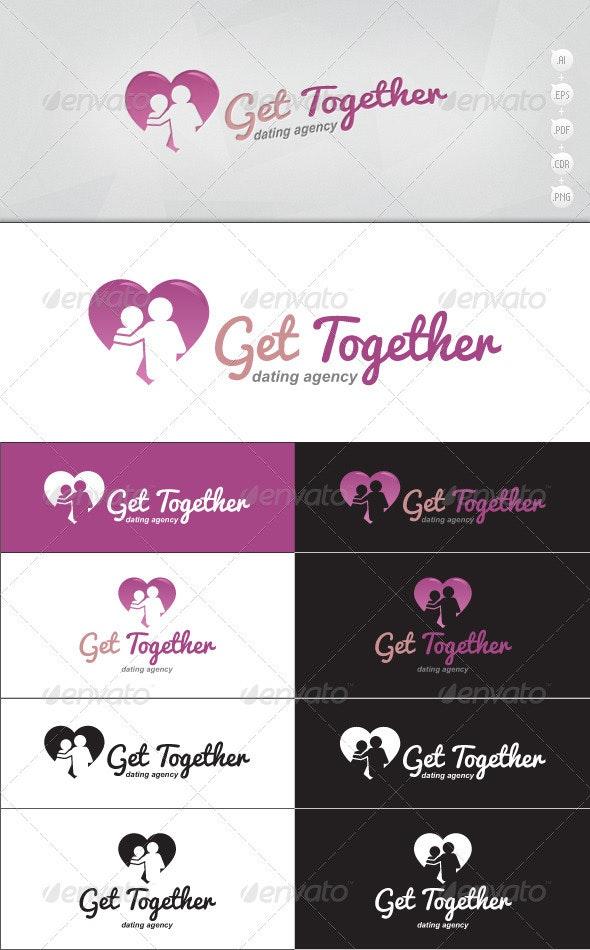 Get Together - Dating Logo - Humans Logo Templates