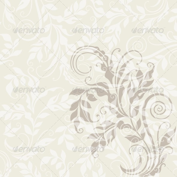 EPS10 Decorative Floral Background - Flourishes / Swirls Decorative