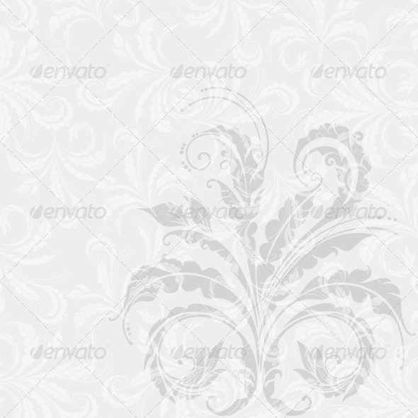 Decorative Floral Background - Flourishes / Swirls Decorative