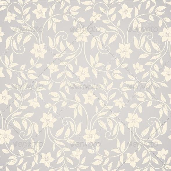 Seamless Swirl Floral Background - Patterns Decorative