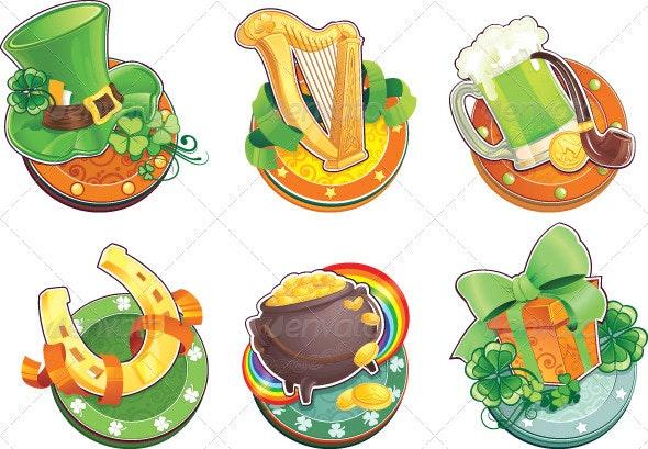 Symbols for St. Patrick's Day - Seasons/Holidays Conceptual