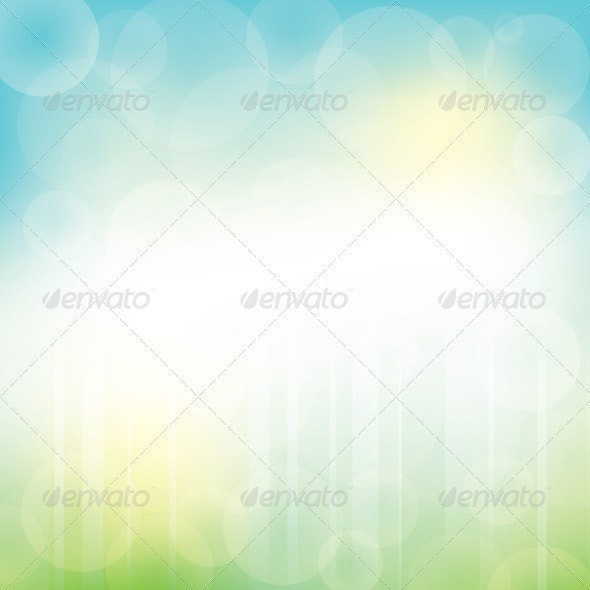 Abstract Green Blue Background with Bokeh  - Backgrounds Decorative