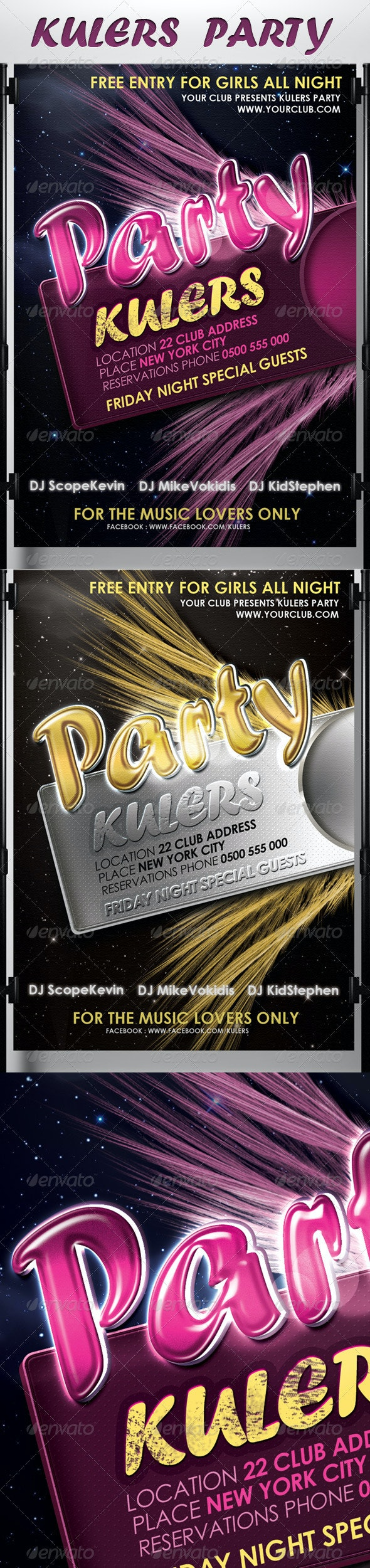Kulers Party Flyer - Events Flyers